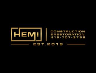Hemi construction&restoration logo design by christabel