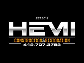 Hemi construction&restoration logo design by torresace