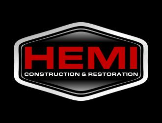 Hemi construction&restoration logo design by Greenlight