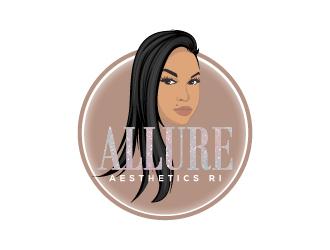 Allure aesthetics ri  logo design