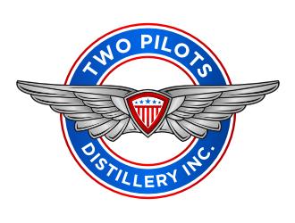 Two Pilots Distillery Inc.  logo design
