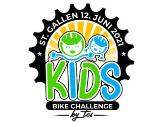 Kids Bike Challenge by TCS                (by TCS small and superscript) logo design by DreamLogoDesign