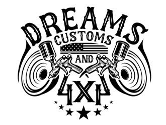 Dreams Customs and 4X4 logo design
