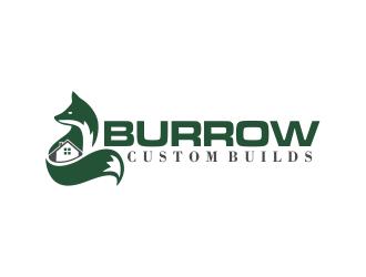 Burrow Custom Builds logo design by oke2angconcept