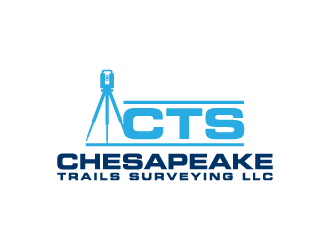 Chesapeake Trails Surveying LLC logo design by wongndeso