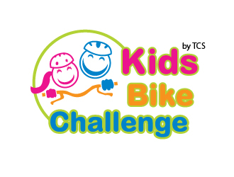 Kids Bike Challenge by TCS                (by TCS small and superscript) logo design by chumberarto