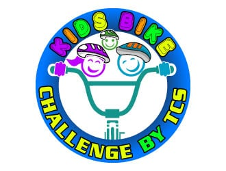 Kids Bike Challenge by TCS                (by TCS small and superscript) logo design by Suvendu