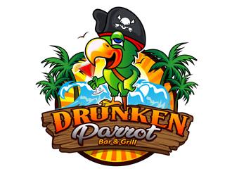 Drunken Parrot Bar & Grill logo design