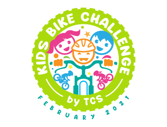 Kids Bike Challenge by TCS                (by TCS small and superscript) logo design by jaize