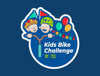 Kids Bike Challenge by TCS                (by TCS small and superscript) logo design by ngattboy