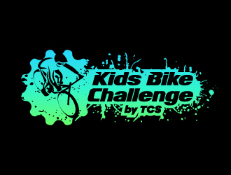 Kids Bike Challenge by TCS                (by TCS small and superscript) logo design by karjen