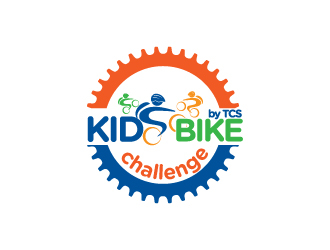 Kids Bike Challenge by TCS                (by TCS small and superscript) logo design by Erasedink