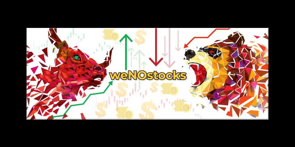 weNOstocks logo design by yondi