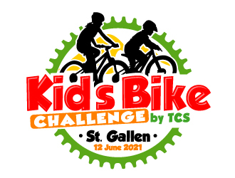 Kids Bike Challenge by TCS                (by TCS small and superscript) logo design by ElonStark