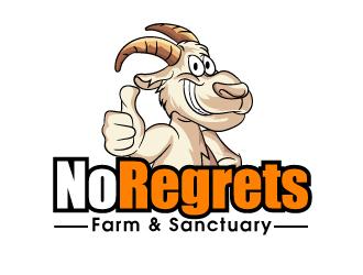 No Regrets Farm & Sanctuary logo design by ElonStark