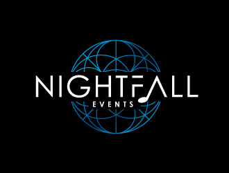Nightfall Events  logo design