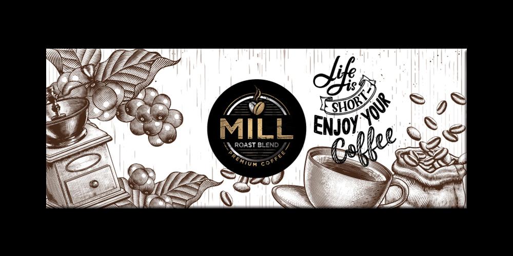 Mill Roast Blend logo design by yondi