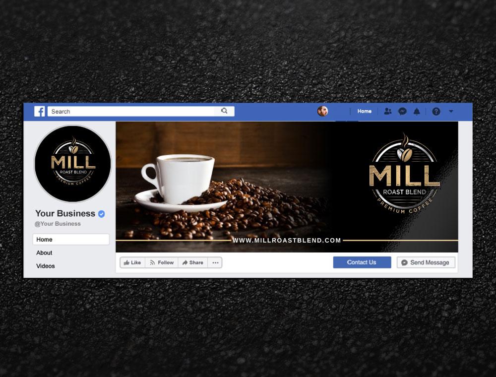 Mill Roast Blend logo design by Boomstudioz