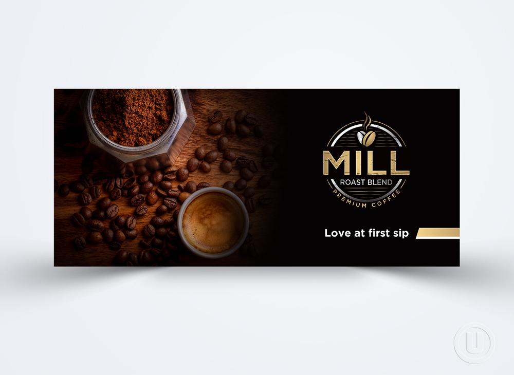Mill Roast Blend logo design by Ulid