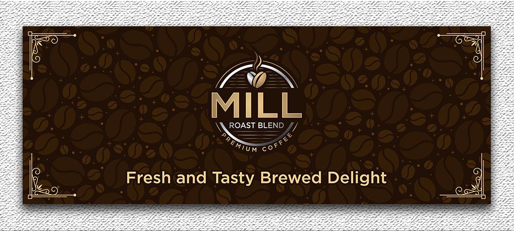 Mill Roast Blend logo design by Gelotine