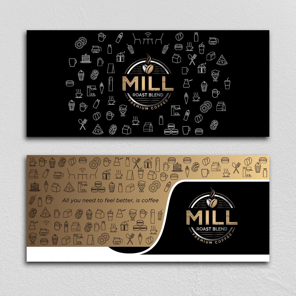 Mill Roast Blend logo design by planoLOGO