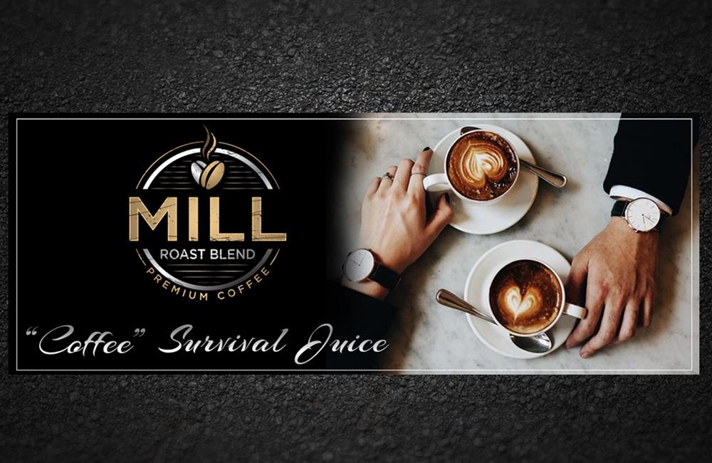 Mill Roast Blend logo design by grea8design