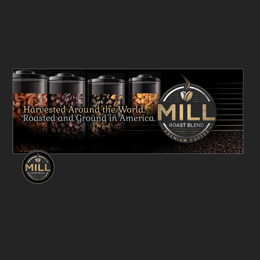 Mill Roast Blend logo design by TMOX