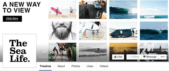 facebook cover as mini photo gallery