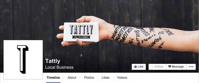 facebook cover featuring the main product