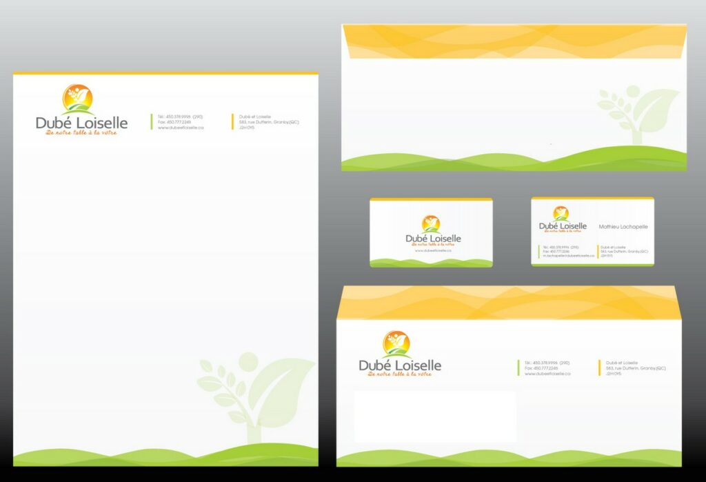 green company stationery and business card design