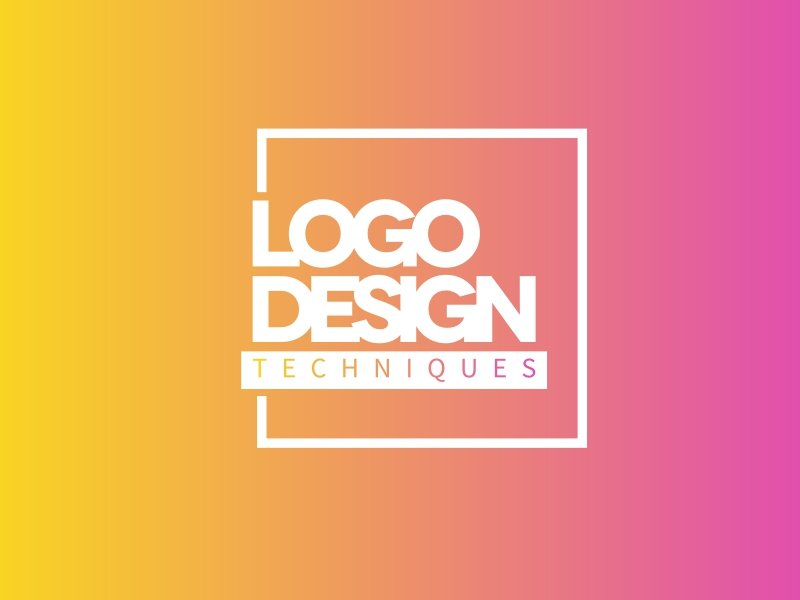 square boxed logo design technique