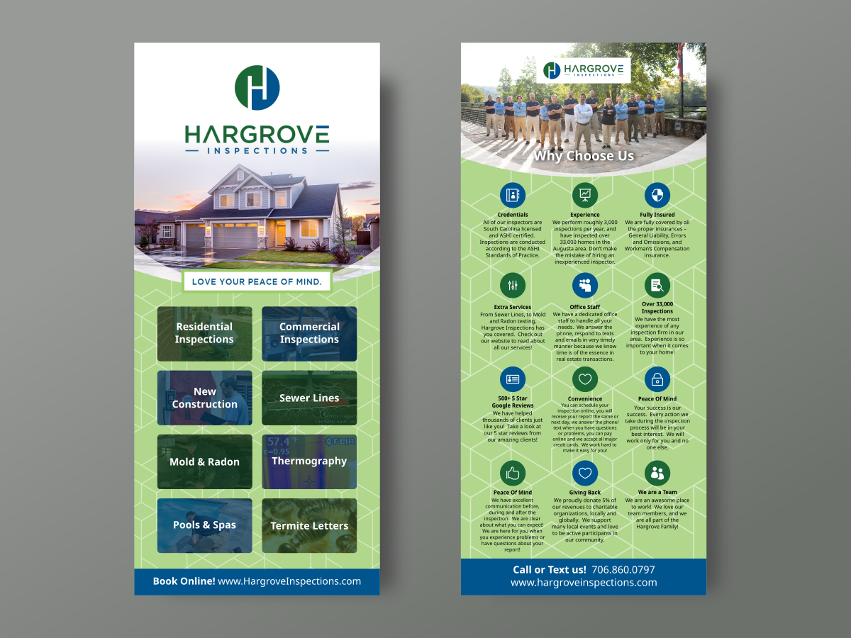 Hargrove Inspections Post Card Logo Design