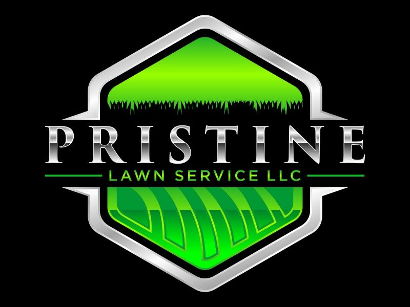 Pristine Lawn Service Logo Design