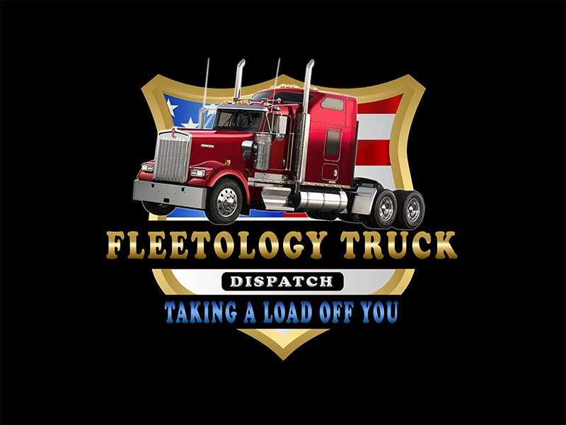 Fleetology Truck Dispatch Taking A Load Off You Logo Design