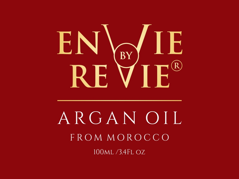 Envie by Revie Argan Oil From Morocco Logo Design