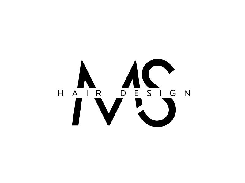 M.S. hair design Logo Design