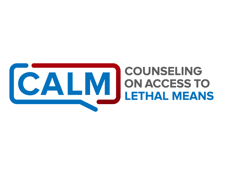 CALM Counseling on Access to Lethal Means Logo Design