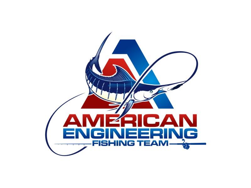 American Engineering Fishing Team Logo Design