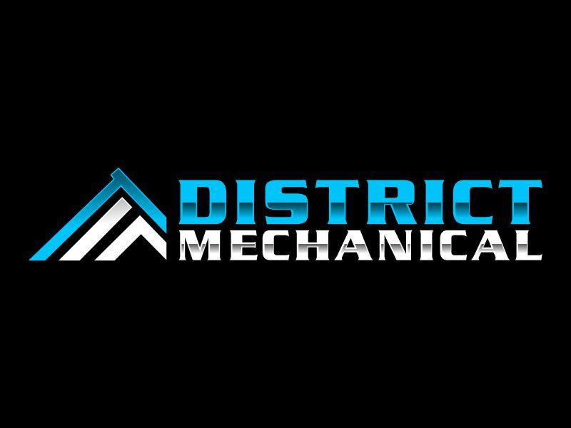 District Mechanical Logo Design