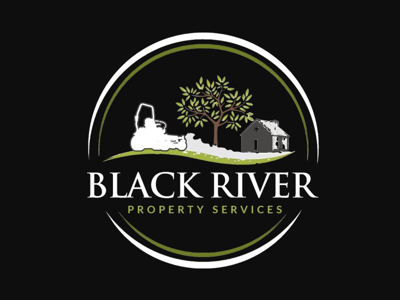 Black River Property Services Logo Design