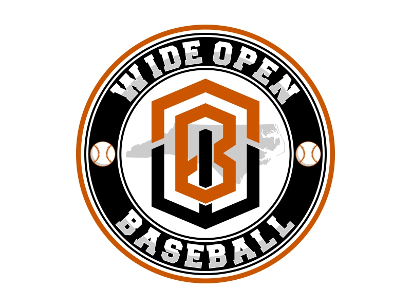 Wide Open Baseball Logo Design