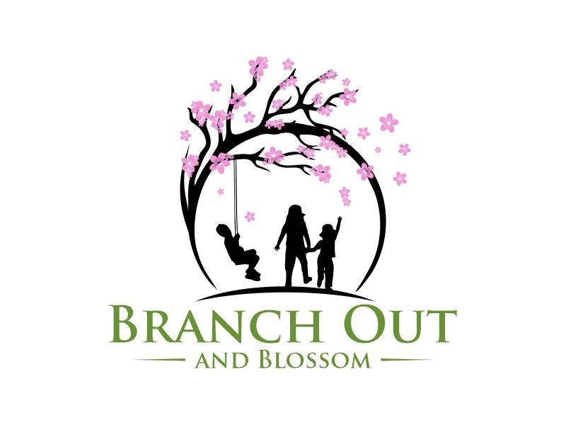 Branch Out and Blossom Logo Design