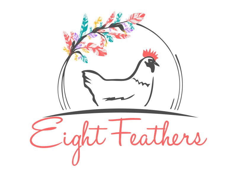 Eight Feathers Logo Design