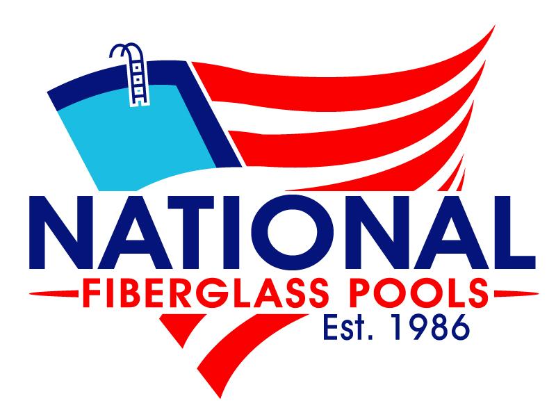 National Fiberglass Pools Logo Design