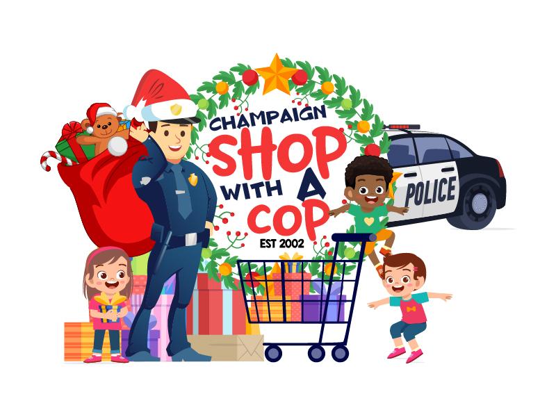 CU Shop With A Cop Logo Design