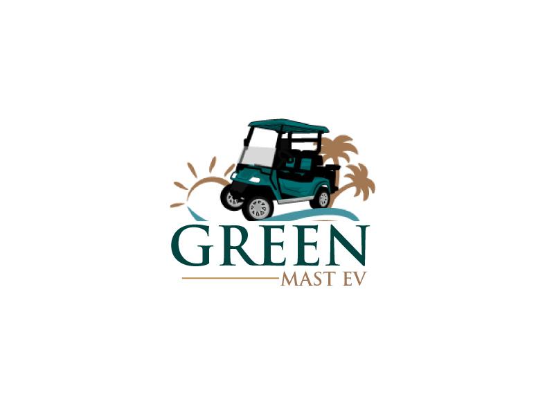 Green MAST EV logo design by ElonStark