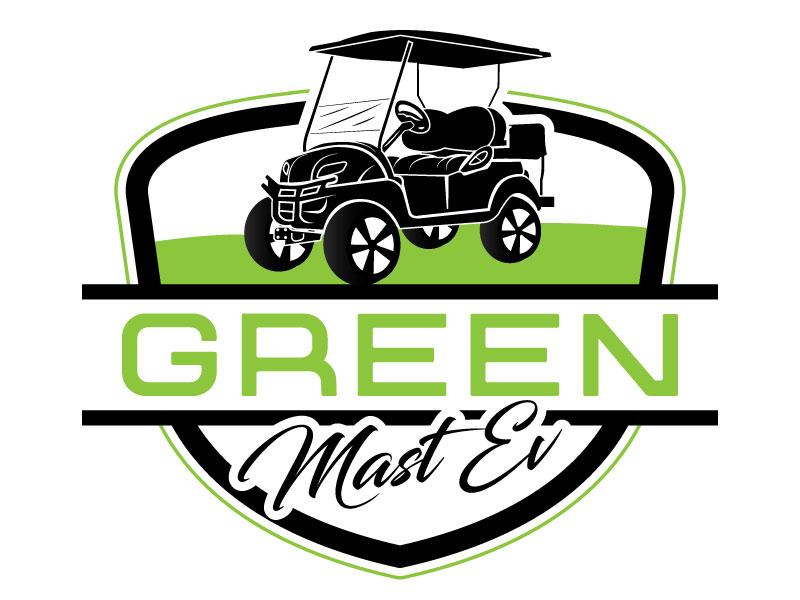 Green MAST EV logo design by Suvendu