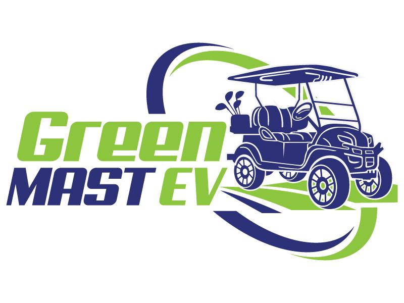 Green MAST EV logo design by LucidSketch