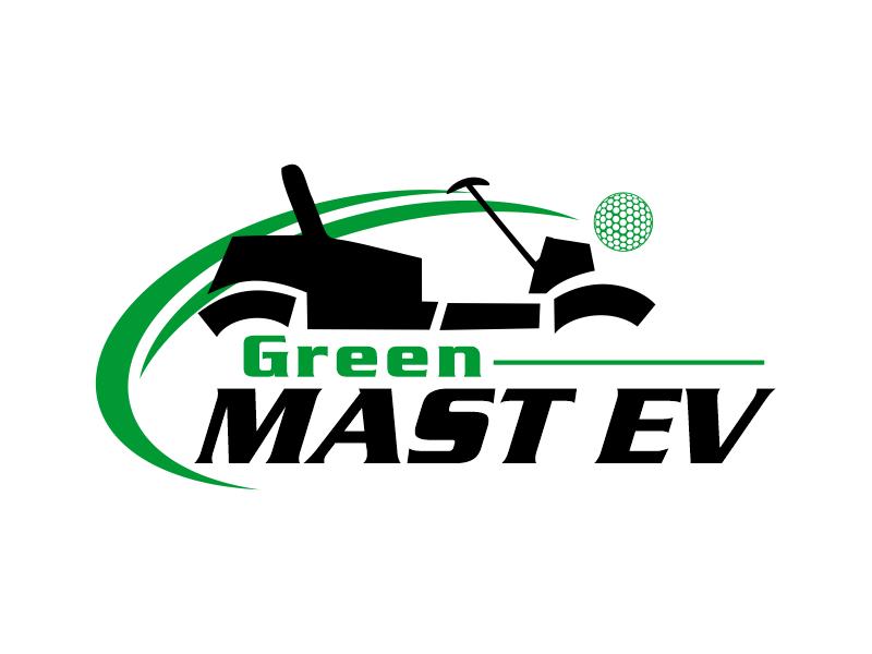 Green MAST EV logo design by Gwerth