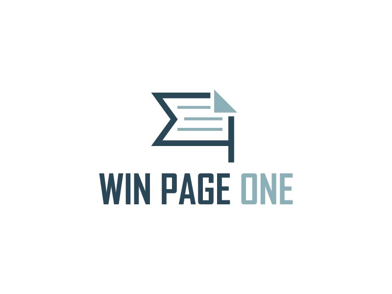 Win Page One logo design by gateout